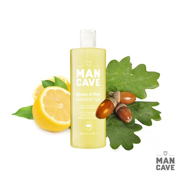 GOODFORIT / 英國 Man Cave Lemon & Oak Shower Gel檸檬精油沐浴精/500ml