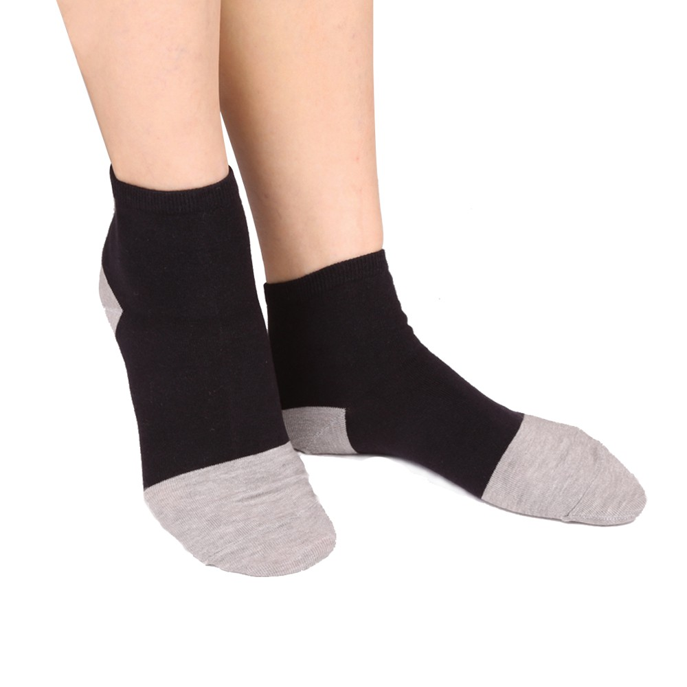 LIGHT & DARK MIT製中性細針竹炭襪(12雙組)