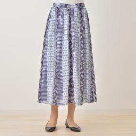 Provador パネルプリントロングスカート