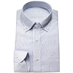 ワイシャツ - ワイシャツの山喜 ワイシャツ メンズ 長袖 形態安定 ドレスシャツ Yシャツ カッターシャツ ビジネスシャツ ビジネス シャツ ボタンダウンブルーストライプ