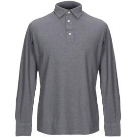 《期間限定セール開催中!》GIAMPAOLO メンズ ポロシャツ 鉛色 M コットン 100%