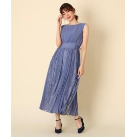 ドレス - Couture brooch Dorry Doll(ドリードール)レースプリーツロングドレス