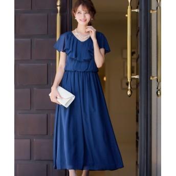 Fashion Letter ファッションレター フリルスリーブ ロングワンピースドレス