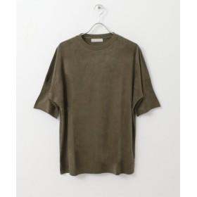 【64%OFF】 センスオブプレイス エコスウェードルーズTシャツ(半袖) メンズ KHAKI M 【SENSE OF PLACE】 【セール開催中】