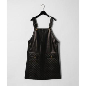 GRACE CONTINENTAL / グレースコンチネンタル レザーキルティングジャンパースカート