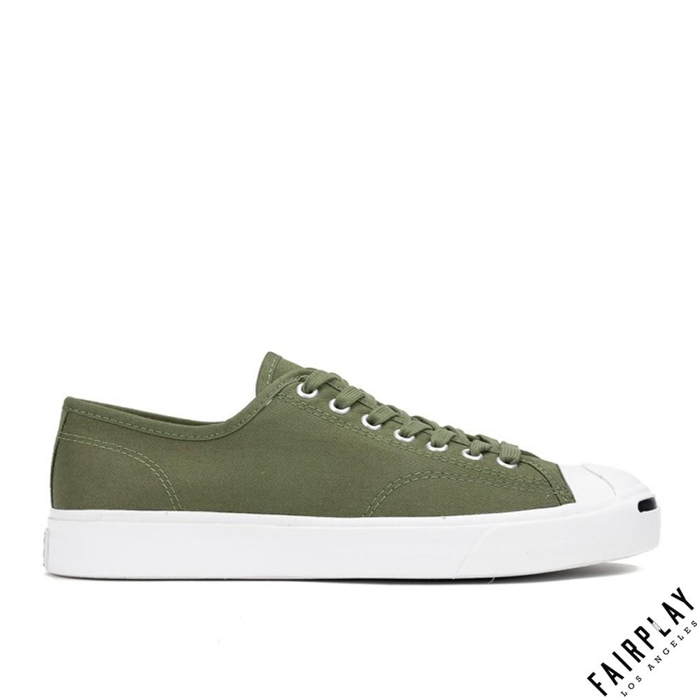 Converse Jack Purcell Ox 軍綠 男鞋 女鞋 低筒 復古 開口笑 運動鞋 情侶鞋 164105C