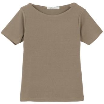 コウベレタス KOBE LETTUCE Bネック前身二重半袖Tシャツ [C365D] (カーキ)