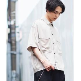 [マルイ]【セール】カラーステッチビッグ5分袖シャツ/ウィゴー(メンズ)(WEGO)