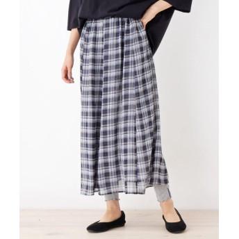 SHOO・LA・RUE/Mrs.(シューラルー/ミセス) レギンス付柄スカート