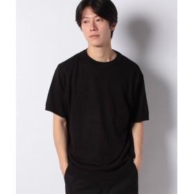 【50%OFF】 コエ 強撚アクリル半袖ニットTEE メンズ ブラック L 【koe】 【セール開催中】
