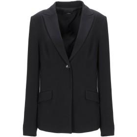 《セール開催中》PLEASE レディース テーラードジャケット ブラック M ポリエステル 63% / ラミー 32% / ポリウレタン 5%