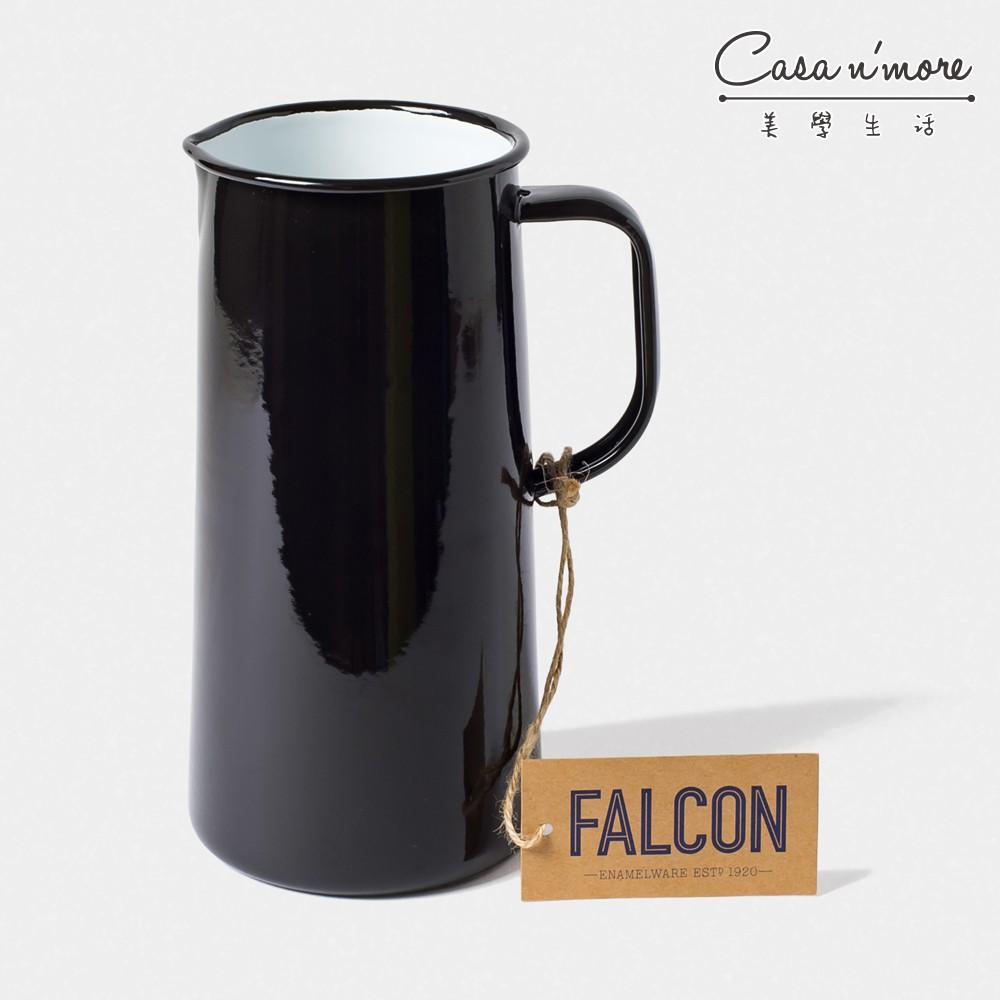 Falcon 獵鷹琺瑯 琺瑯冷水壺 3品脫 水瓶 水壺 琺瑯壺 1.7L 黑白