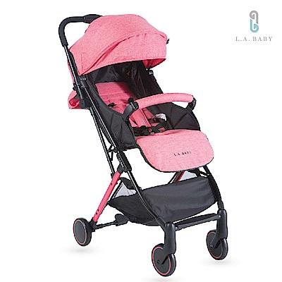 (L.A. Baby)城市輕旅嬰兒手推車  (珊瑚紅 )