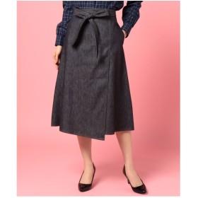 OLD ENGLAND デニムスカート(ネイビー)【返品不可商品】