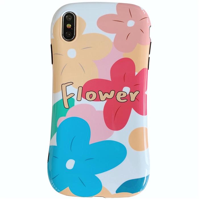 保護殼 適用於 iphone 6 6s i7 i8 7p 8p iX XS XR XSMax 小花朵防摔小蠻腰殼 手機殼