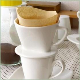 CPhome コーヒードリッパー  あたたかなクリーム色のニューボン磁器 ドリッパー 陶器製 珈琲 2穴タイプ 国産 瀬戸焼 訳あり 父の日