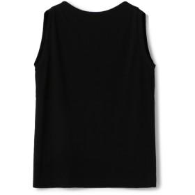 ESTNATION / ジャージーノースリーブカットソー ブラック/38(エストネーション)◆レディース Tシャツ/カットソー