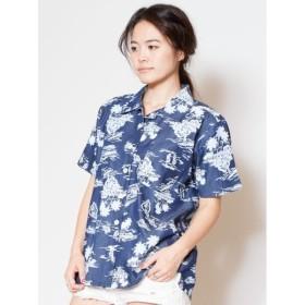 [マルイ] 【Kahiko】チャプスイ柄シャンブレーアロハシャツ/チャイハネ(CAYHANE)