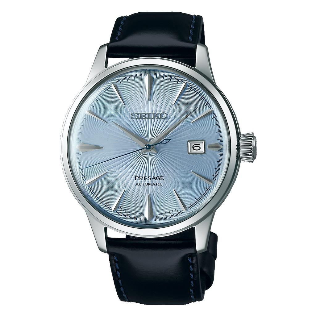 【SEIKO 精工】Presage 調酒師系列爵士機械錶-海藍(4R35-01T0B/SRPB43J1)