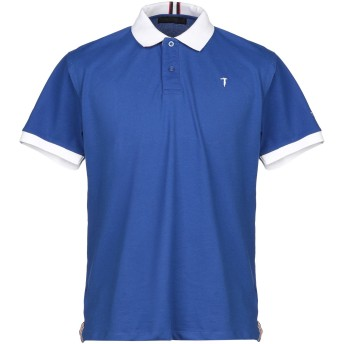 《セール開催中》TRU TRUSSARDI メンズ ポロシャツ ブライトブルー S コットン 97% / ポリウレタン 3%