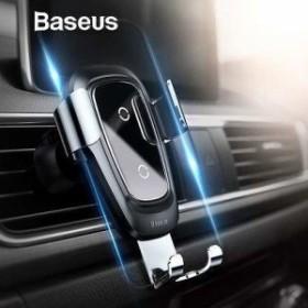 スマホホルダー Iphone サムスン スマホ電話用ホルダースタンド 自動車電話ホルダー  ワイヤレス充電器自動車電話ホルダー Baseus
