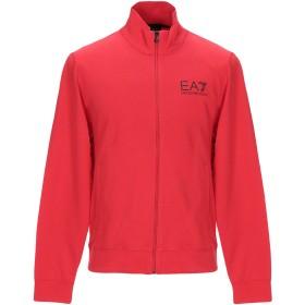 《期間限定 セール開催中》EA7 メンズ スウェットシャツ レッド M コットン 100%