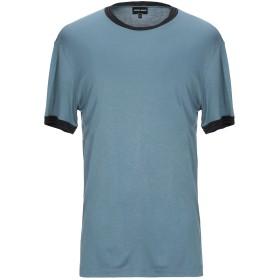 《期間限定セール開催中!》GIORGIO ARMANI メンズ T シャツ アジュールブルー 56 レーヨン 88% / シルク(マルベリーシルク) 12% / ポリエステル
