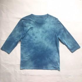 タイダイ染め 藍染とターコイズブルーTEE オーガニックコットン 染色