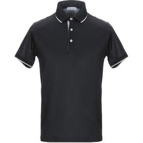 《期間限定セール開催中!》GRAN SASSO メンズ ポロシャツ ブラック 46 コットン 100%