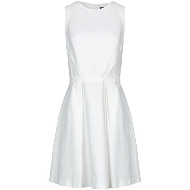 《セール開催中》ARMANI JEANS レディース ミニワンピース&ドレス ホワイト 44 コットン 46% / 麻 32% / レーヨン 22%