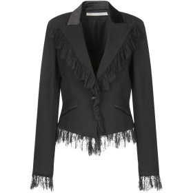 《セール開催中》VALENTINO レディース テーラードジャケット ブラック 12 バージンウール 99% / ポリウレタン 1%