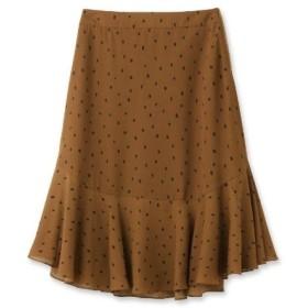 anatelier(アナトリエ)ポリイレギュラーヘム変形ドットスカート