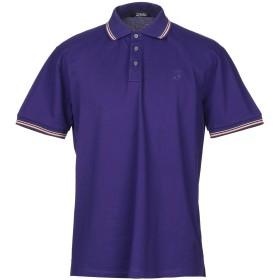 《期間限定セール開催中!》TRUSSARDI ACTION メンズ ポロシャツ ディープパープル L コットン 100%