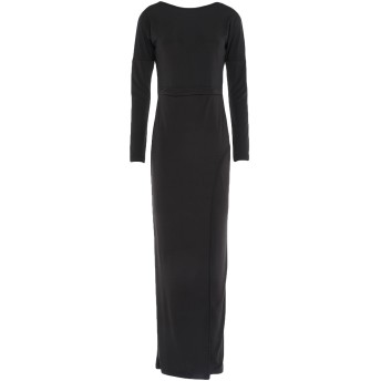 《セール開催中》SIMONA-A レディース ロングワンピース&ドレス ブラック XS ポリエステル 93% / 伸縮繊維 7%