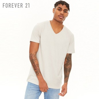 FOREVER21 フォーエバー21 【[MEN]VネックコットンTシャツ】(5,000円以上購入で送料無料)