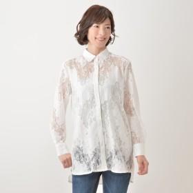 you rari 軽やかレースロングシャツ