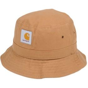 《期間限定 セール開催中》CARHARTT メンズ 帽子 キャメル S/M コットン 100%