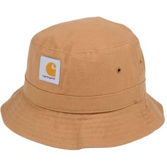 《期間限定セール開催中!》CARHARTT メンズ 帽子 キャメル M/L コットン 100%