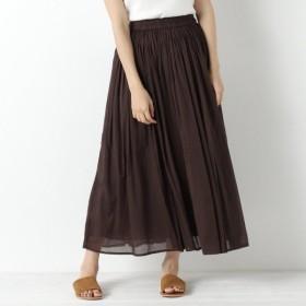 スカート レディース ロング 秋カラー◎インド綿ボイル素材のカラースカート 「18D/BROWN」
