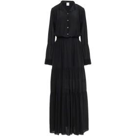 《期間限定 セール開催中》SEMICOUTURE レディース ロングワンピース&ドレス ブラック 40 シルク 100%