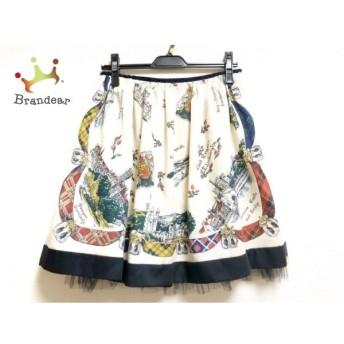 ロイスクレヨン Lois CRAYON スカート サイズM レディース ベージュ×黒×マルチ 新着 20190711