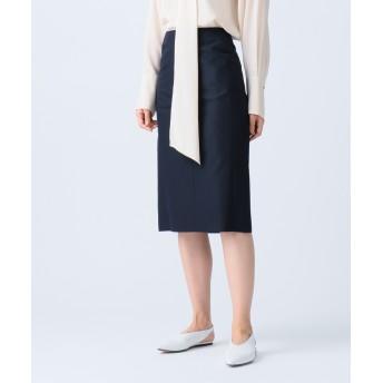 【オンワード】 JOSEPH WOMEN(ジョゼフ ウィメン) NEW HOLDEN / HAIRLINE WOOL SILK スカート ネイビー 34 レディース 【送料無料】