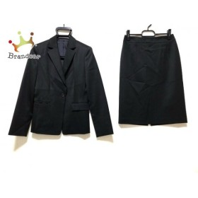 アナイ ANAYI スカートスーツ サイズ38 M レディース 黒 肩パッド   スペシャル特価 20191009