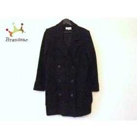 イヴサンローラン YvesSaintLaurent コート サイズL レディース 黒 冬物  値下げ 20191018