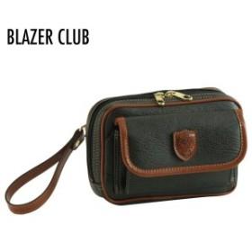 BLAZER CLUB ブレザークラブ メンズ セカンドバッグ 合皮ボンディング加工 カーキ 25817-2