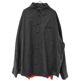 BALENCIAGA(バレンシアガ)18AW Tシャツドッキングデザインレイヤード長袖シャツ 534335 TBM04