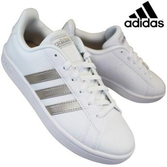 アディダス adidas EE7874 グランドコートベースW/GRANDCOURT BASE W レディース ローカット テニスシューズ コートタイプ 紐靴 合成皮革