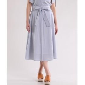 ef-de / エフデ サッシュリボン付きAラインスカート