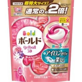 P&G ボールド ジェルボール 3D 癒しのプレミアムブロッサムの香り 詰替え 超特大サイズ 34個 まとめ買い(×8) 洗濯用洗剤|49024306904