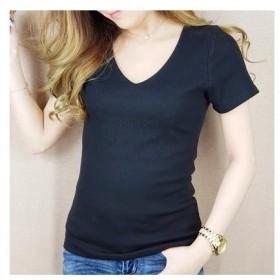 VANITY FACE テレコ半袖Tシャツ ブラック